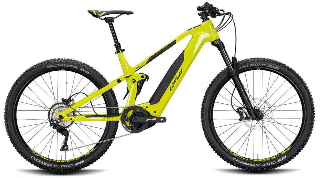 """Conway Xyron 227 27.5"""" E-Bike MTB Komplettrad Gr. L acid/black matt Mod. 2020"""