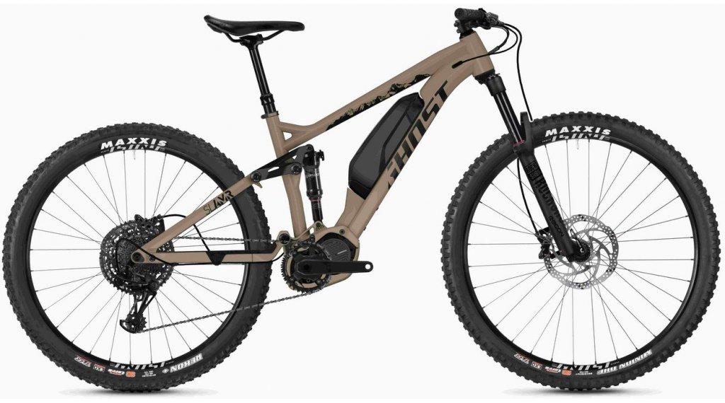 "Ghost Hybride SLAMR S1.7+ AL U 29""/27.5+ E-Bike Komplettrad Gr. M classic tan/jet black Mod. 2020"