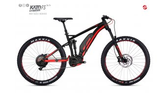 Ghost Hybride Kato per S4.7+ AL U 27.5+ E-Bike bici completa . night black/neon red mod. 2018- TESTBIKE Nr.
