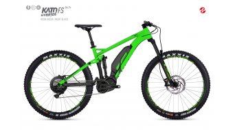 Ghost Hybride Kato FS S4.7+ AL U 27.5+ E-Bike Komplettrad Gr. M neon green/night black Mod. 2018