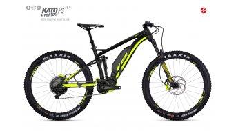 Ghost Hybride Kato FS S8.7+ AL U 27.5+ E-Bike bici completa night negro/color neón amarillo Mod. 2018
