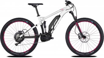 Ghost Hybride Lanao FS S3.7+ AL W 27.5+ E-Bike bici completa Señoras-rueda star blanco/night negro Mod. 2018