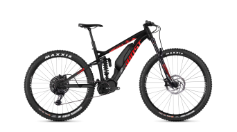 Ghost Hybride SLAMR S2.7+ AL and 27.5+ E- bike bike night black/riot red/iridium silver