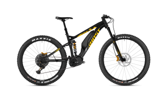 Ghost Hybride SLAMR S3.7+ AL U 27.5+ E-Bike Komplettrad night black/spectra yellow/iridium silver Mod. 2019