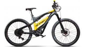 """Greyp G6.1 Bold FS 27.5"""" MTB E-Bike Komplettrad dunkelgrau/schwarz/gelb Mod. 2020"""