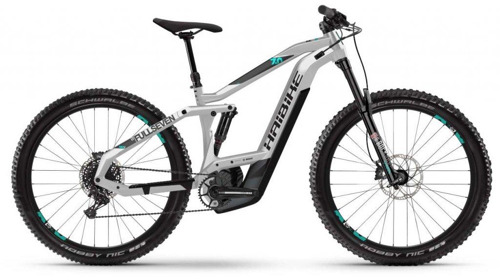 "Haibike SDURO FullSeven LT 7.0 27.5"" MTB E-Bike Komplettrad Gr. S schwarz/grau/türkis Mod. 2020"
