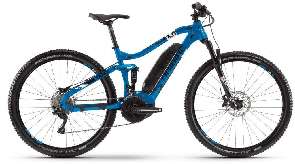 "Haibike SDURO FullNine 3.0 29"" MTB E-Bike Komplettrad Gr. S blau/weiß/schwarz Mod. 2020"