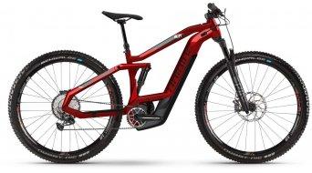 """Haibike SDURO FullNine 8.0 29"""" MTB elektromos kerékpár komplett kerékpár Méret M piros/fekete/szürke 2020 Modell- bemutató darab- KRATZER AUF felső vázcső"""