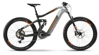 Haibike XDURO Nduro 8.0 27.5 E-Bike MTB Komplettrad silber/oliv/orange matt Mod. 2021