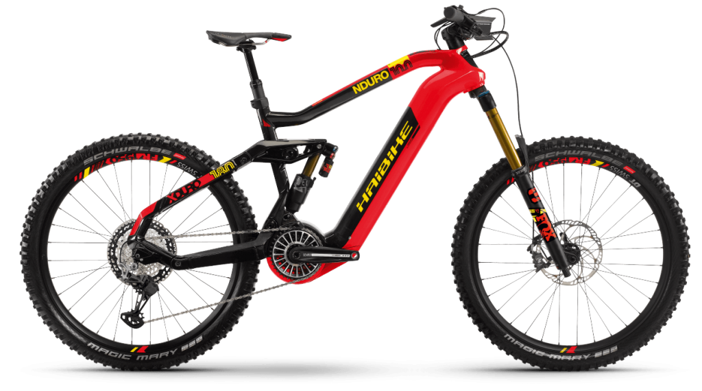 Haibike XDURO Nduro 10.0 27.5 E-Bike MTB Komplettrad Gr. S rot/carbon/gelb Mod. 2021