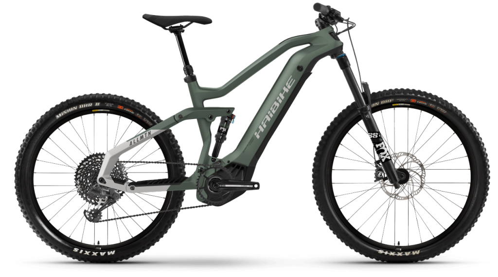 Haibike AllMtn 6 29 / 27.5 E-Bike MTB bici completa tamaño S bamboo verde/cool gris matte Mod. 2021