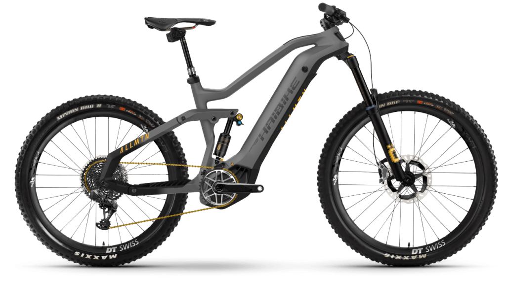 Haibike AllMtn SE 29 / 27.5 E-Bike MTB Komplettrad Gr. S titan/black/yellow matte Mod. 2021