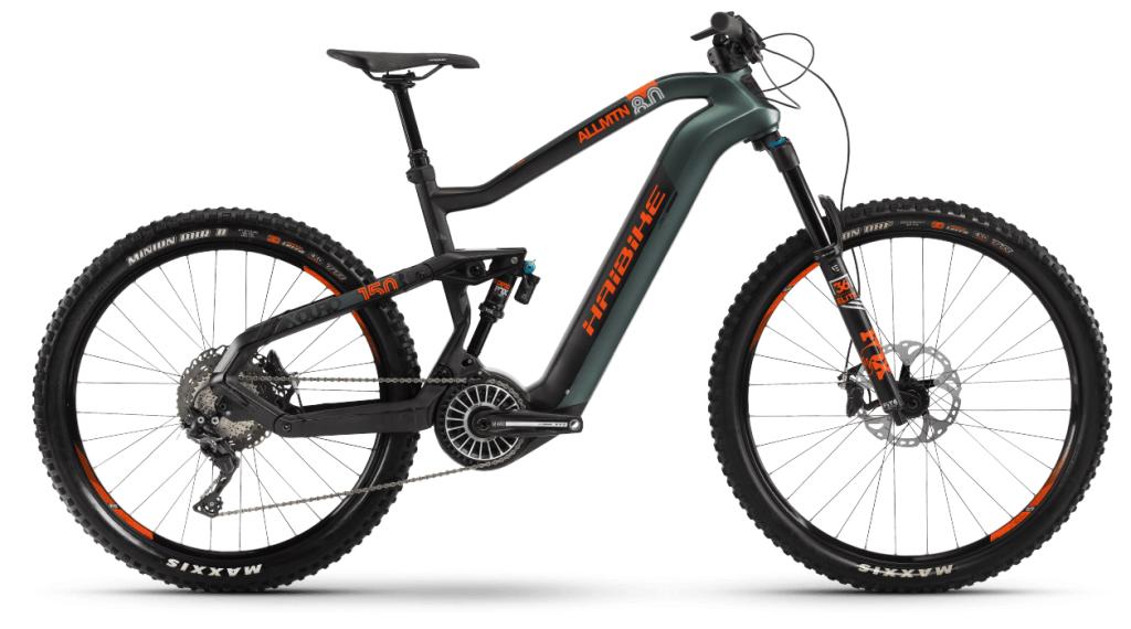 Haibike XDURO AllMtn 8.0 29 / 27.5 E-Bike MTB bici completa tamaño L verde oliva/carbono/naranja color apagado Mod. 2021