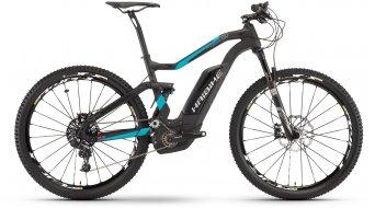 Haibike XDURO FullSeven Carbon 8.0 27.5 MTB E-Bike Komplettrad carbon/cyan/rot matt Bosch Performance CX-Antrieb Mod. 2017