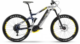"Haibike XDURO AllMtn 7.0 500Wh 27.5"" MTB E-Bike bici completa . argento/blu/giallo opaco mod. 2018"
