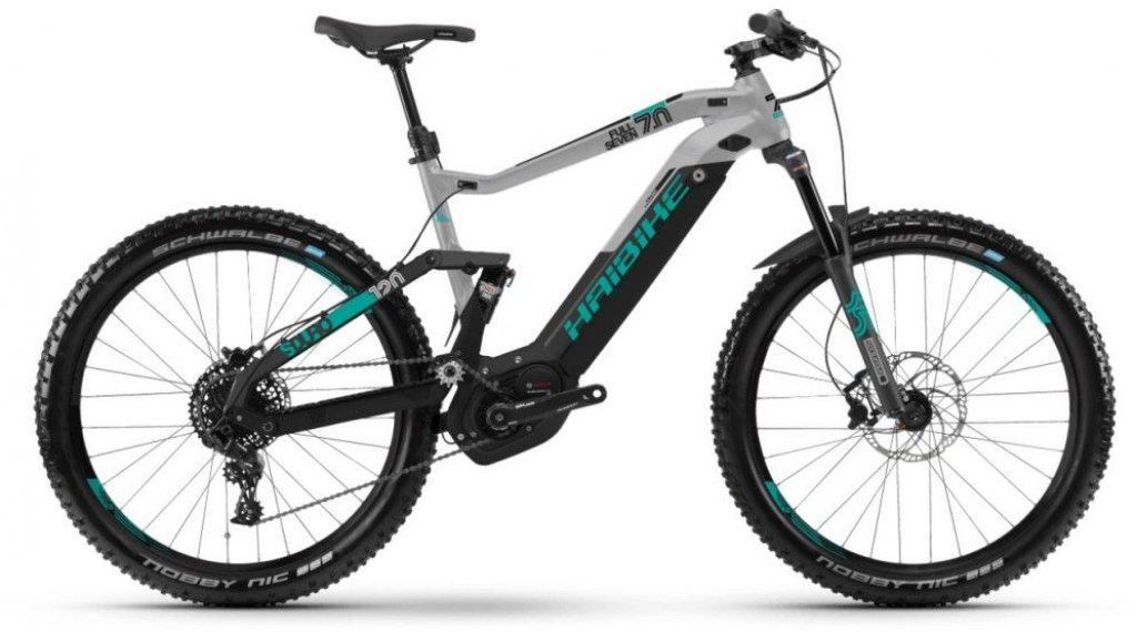 """Hai bike SDURO FullSeven 7.0 500Wh 27.5""""/650B MTB E- bike bike size L black/grey/tourquoise 2019"""