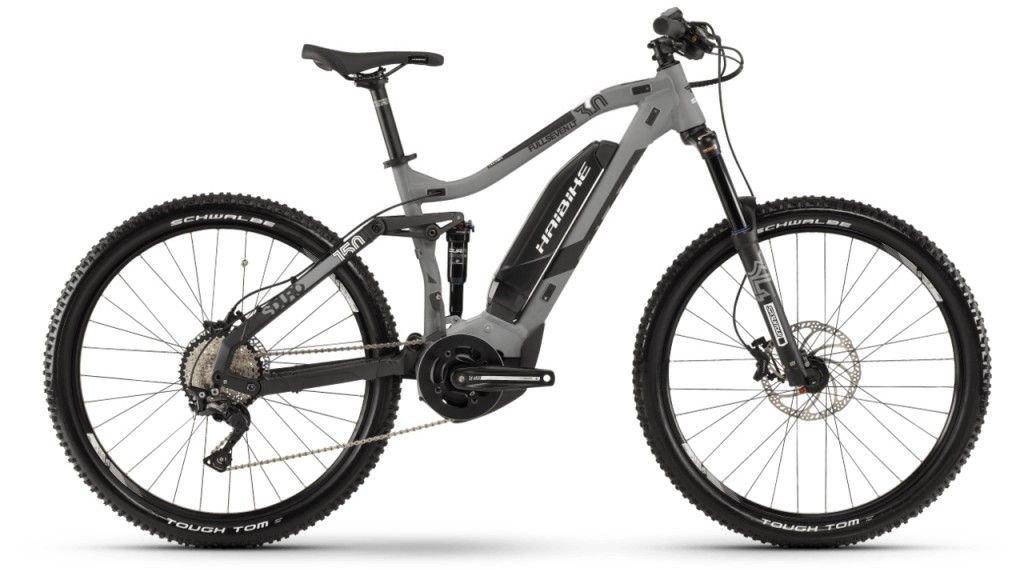 "Haibike SDURO FullSeven LT 3.0 500WH 27.5"" / 650B MTB E-Bike Komplettrad Gr. S grau/schwarz/weiß matt Mod. 2019"