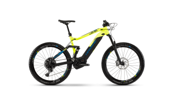 "Haibike SDURO FullSeven LT 9.0 500WH 27.5"" MTB E-Bike Komplettrad Gr. L  schwarz/gelb/blau matt Mod.2019"