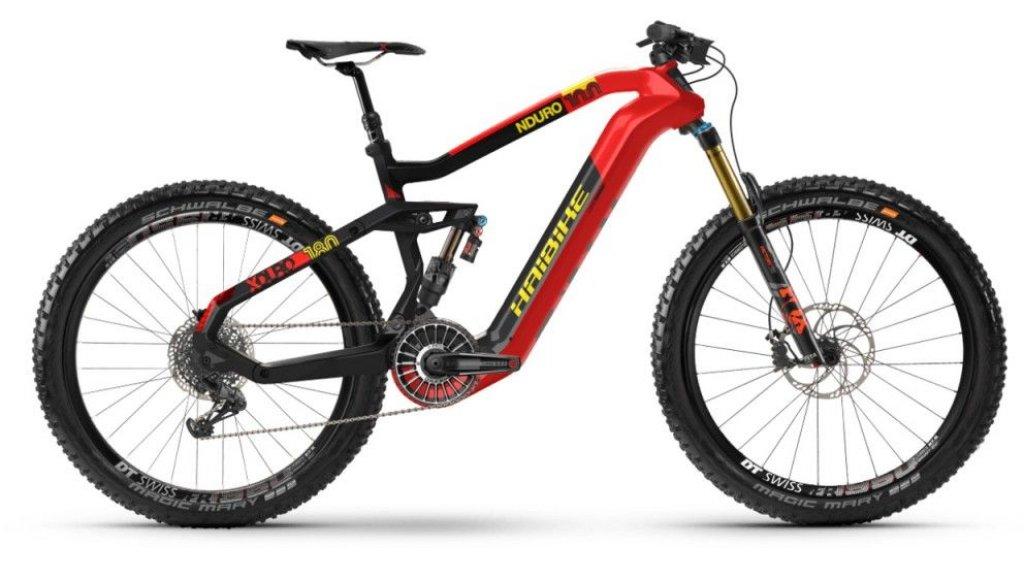 Haibike Xduro Nduro 100 630wh 275650b Flyon Mtb E Bike Bici Completa Mis S Rossocarboniogiallo Opaco Mod 2020