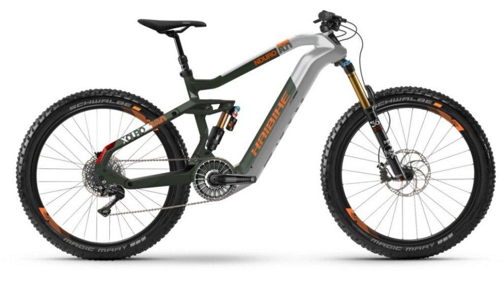 """Haibike XDURO Nduro 8.0 630Wh 27.5"""" Flyon MTB E-Bike Komplettrad Gr. S silber/oliv/orange matt Mod. 2020"""