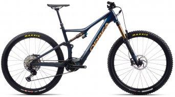 Orbea Rise M10 29 E-Bike MTB Komplettrad coal blue/red gold Mod. 2021 - TESTBIKE