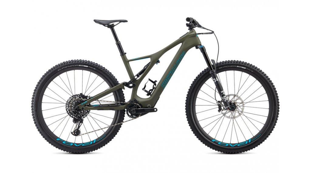 """Specialized Turbo Levo SL Expert Carbon 29"""" MTB E-Bike Komplettrad Gr. S oak green/aqua Mod. 2020"""