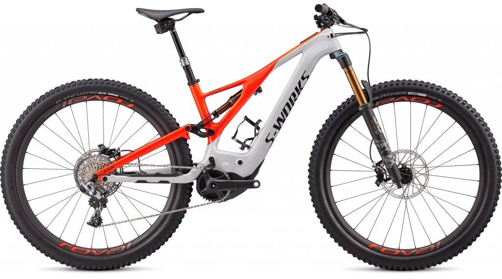 "Specialized S-Works Turbo Levo Carbon 29"" MTB E-Bike Komplettrad Gr. L dove grey/rocket red Mod. 2020"