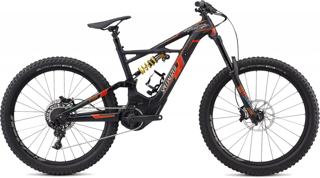 Specialized Kenevo FSR Expert TLD 6Fattie 650B+/27.5+ MTB e-bike fiets maat S Troy Lee Designs black/orange/blue model 2018