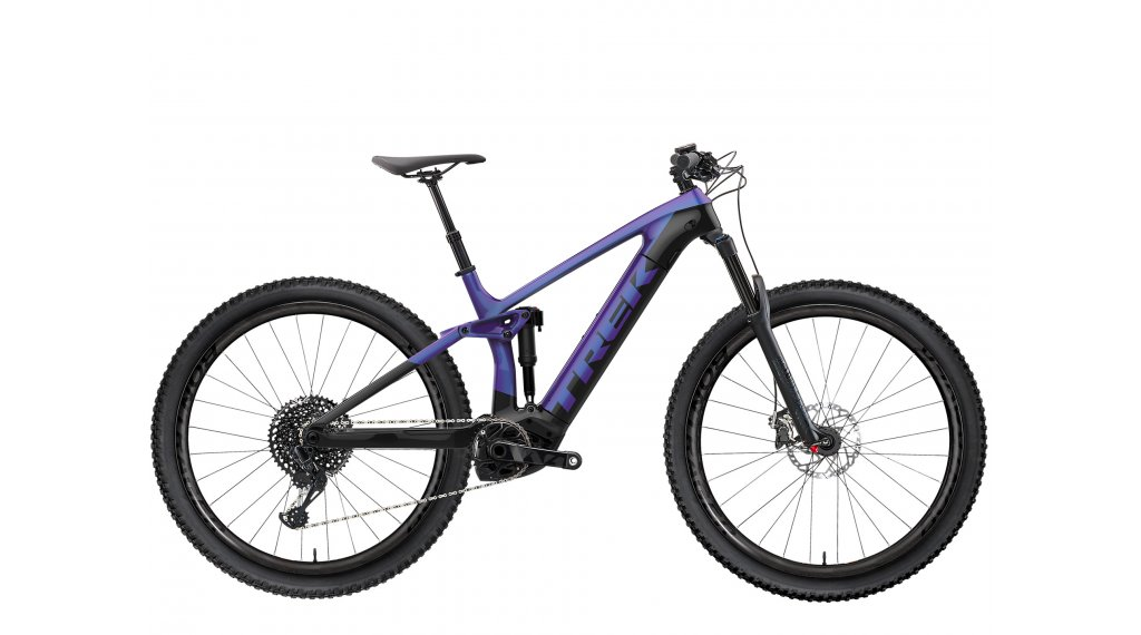 "Trek Rail 5 625W 29"" E-Bike MTB Komplettrad Gr. S purple flip/trek black Mod. 2021"