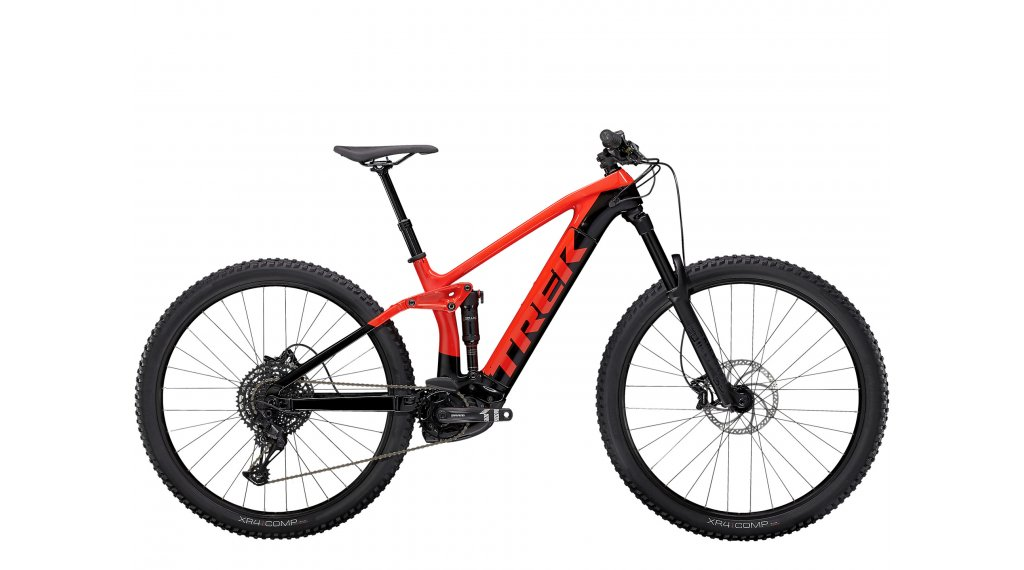 "Trek Rail 9.5 29"" E-Bike MTB Komplettrad Gr. S gloss radioactive red/ trek black Mod. 2021"
