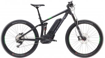 Trek Powerfly 8 FS+ 650B/27.5 MTB E-Bike bici completa . matte trek black/green light mod. 2017