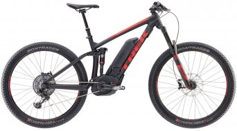 Trek Powerfly FS 9 LT + 650B/27.5 MTB E-Bike bici completa mis. 47cm (18.5) matte trek black/viper red mod. 2017
