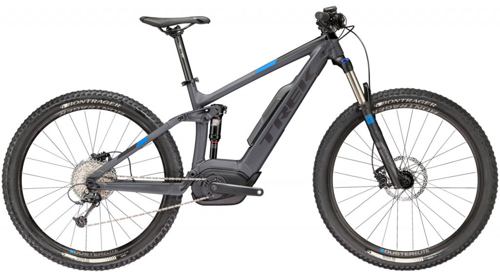 "Trek Powerfly FS 5 650B/27.5"" MTB e-bike maat 39.4cm (15.5"") mat solid charcoal/Trek black model 2018"
