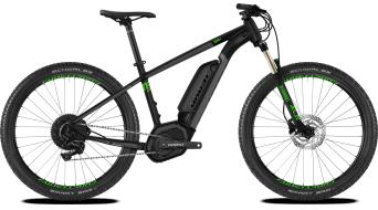 Ghost Hybride Teru B4.7+ AL U 27.5+ elektromos kerékpár komplett kerékpár Méret M jet black/urban gray/riot green 2020 Modell- bemutató darab- KRATZER AN STITZtartó/KRATZER AN villa dropout (papucs)