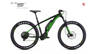 Ghost Hybride Kato S6.7+ AL U 27.5+ E-Bike Komplettrad Gr. XL night black/neon green Mod. 2018