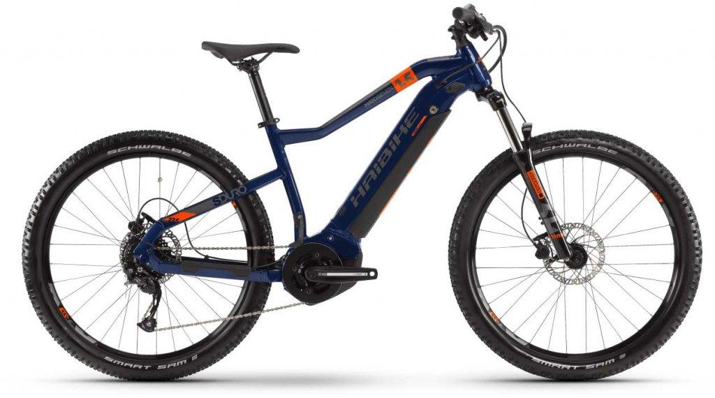 """Haibike SDURO HardSeven 1.5 27.5"""" MTB E-Bike Komplettrad Gr. S blau/orange/titan Mod. 2020"""