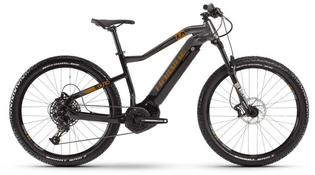 """Haibike SDURO HardSeven 6.0 27.5"""" MTB E-Bike Komplettrad Gr. M schwarz/titan/bronze Mod. 2020"""