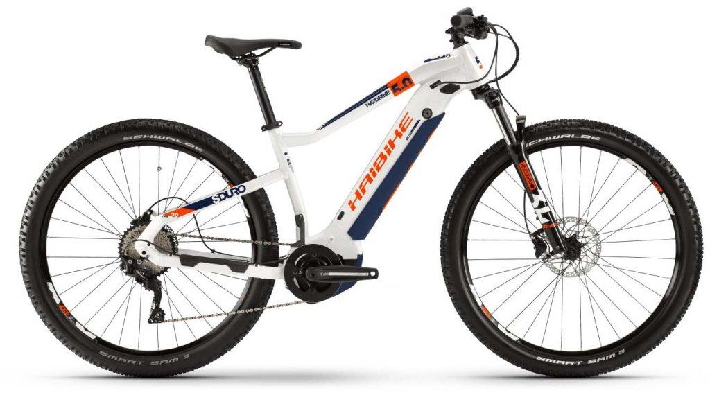 """Hai bike SDURO HardNine 5.0 29"""" MTB E- bike bike size S white/orange/blue 2020"""