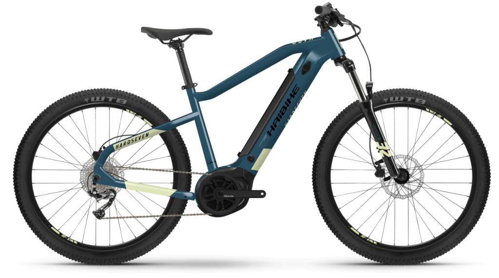 Haibike HardSeven 5 27.5 E-Bike MTB bici completa tamaño S azul/canary Mod. 2021