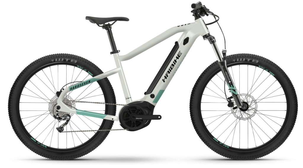 Haibike HardSeven 5 27.5 E-Bike MTB bici completa tamaño S honey/teal matte Mod. 2021