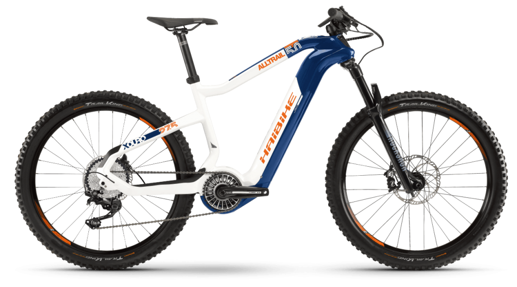 Haibike XDURO AllTrail 5.0 27.5 E-Bike MTB bici completa tamaño M azul/blanco(-a)/naranja Mod. 2021