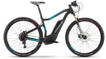 Haibike XDURO HardNine Carbon 8.0 29 MTB E-Bike Komplettrad Gr. 45cm carbon/cyan/rot matt Bosch Performance CX-Antrieb Mod. 2017