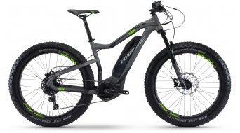 Haibike SDURO FatSix 6.0 26 Fatbike elektromos kerékpár komplett kerékpár titán/fekete/zöld matt Yamaha PW-meghajtás 2017 Modell