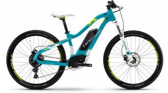 """Haibike SDURO HardLife 4.0 500Wh 27.5"""" МТБ Дамски Планински електрически велосипед, размер cyan/бяло/светло зелена модел 2018"""