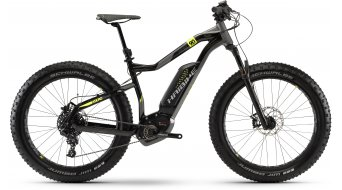 "Haibike XDURO FatSix 9.0 500Wh 26"" MTB e-bike fiets zwart/titanium/geel model 2018"