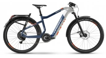 Haibike XDURO Adventr 5.0 27.5 elektrokolo treking úplnýrad velikost 56cm bílá/modrá/orange model 2020