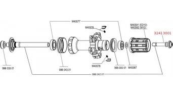 Mavic Achsverschraubung right M10/ED10, for RR QRM+ LR hi, 32413001