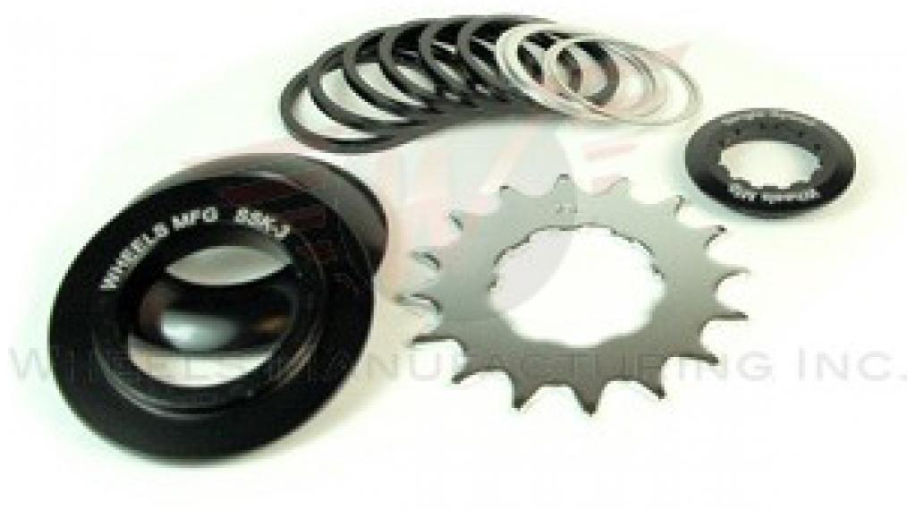 Wheels Manufacturing Single Speed Conversion Kit inkl. Kettenführung für Shiamno/SRAM black anodized