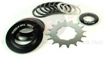 Wheels Manufacturing Single Speed Conversion Kit 含有导链 适用于 Shiamno/SRAM black anodized