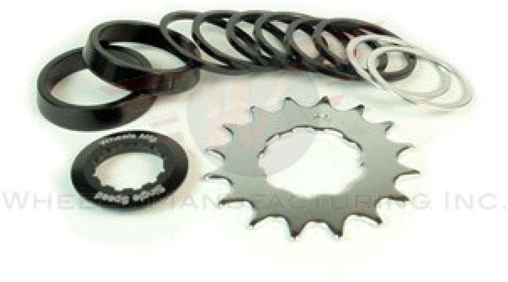Wheels Manufacturing Single Speed Conversion Kit angewinkelt für Shiamno/SRAM black anodized